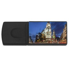 Architecture Building Exterior Buildings City USB Flash Drive Rectangular (1 GB)