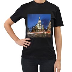 Architecture Building Exterior Buildings City Women s T-Shirt (Black) (Two Sided)