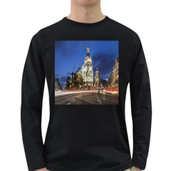 Architecture Building Exterior Buildings City Long Sleeve Dark T-Shirts