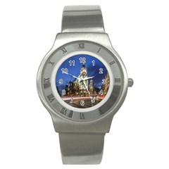 Architecture Building Exterior Buildings City Stainless Steel Watch