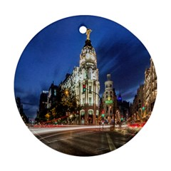 Architecture Building Exterior Buildings City Round Ornament (Two Sides)