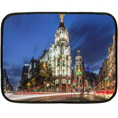 Architecture Building Exterior Buildings City Fleece Blanket (Mini)