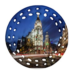 Architecture Building Exterior Buildings City Round Filigree Ornament (Two Sides)