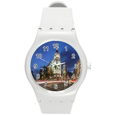 Architecture Building Exterior Buildings City Round Plastic Sport Watch (m)