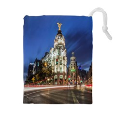 Architecture Building Exterior Buildings City Drawstring Pouches (Extra Large)