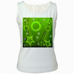 Art About Ball Abstract Colorful Women s White Tank Top