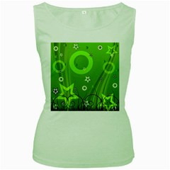 Art About Ball Abstract Colorful Women s Green Tank Top