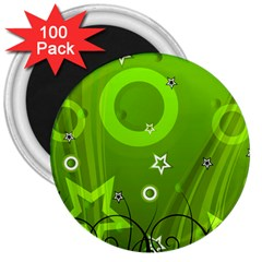 Art About Ball Abstract Colorful 3  Magnets (100 pack)