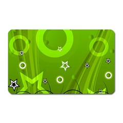Art About Ball Abstract Colorful Magnet (Rectangular)