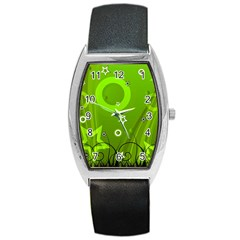 Art About Ball Abstract Colorful Barrel Style Metal Watch