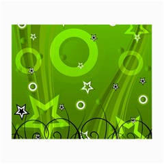 Art About Ball Abstract Colorful Small Glasses Cloth