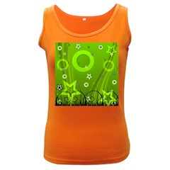 Art About Ball Abstract Colorful Women s Dark Tank Top