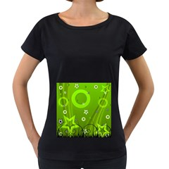 Art About Ball Abstract Colorful Women s Loose-Fit T-Shirt (Black)
