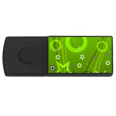 Art About Ball Abstract Colorful USB Flash Drive Rectangular (4 GB)