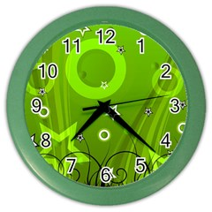 Art About Ball Abstract Colorful Color Wall Clocks