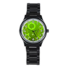Art About Ball Abstract Colorful Stainless Steel Round Watch