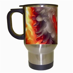 Arts Fire Valentines Day Heart Love Flames Heart Travel Mugs (White)