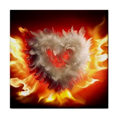 Arts Fire Valentines Day Heart Love Flames Heart Face Towel