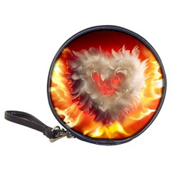 Arts Fire Valentines Day Heart Love Flames Heart Classic 20-CD Wallets