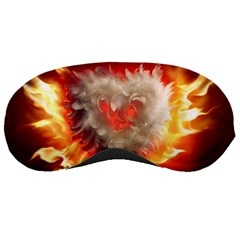 Arts Fire Valentines Day Heart Love Flames Heart Sleeping Masks