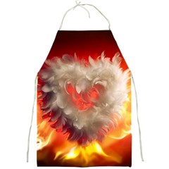 Arts Fire Valentines Day Heart Love Flames Heart Full Print Aprons