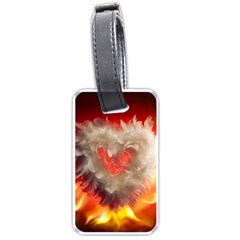 Arts Fire Valentines Day Heart Love Flames Heart Luggage Tags (Two Sides)