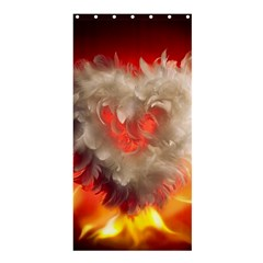 Arts Fire Valentines Day Heart Love Flames Heart Shower Curtain 36  x 72  (Stall)