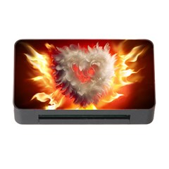 Arts Fire Valentines Day Heart Love Flames Heart Memory Card Reader with CF
