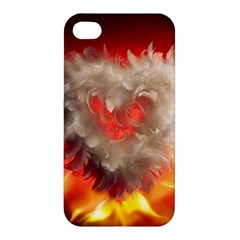 Arts Fire Valentines Day Heart Love Flames Heart Apple iPhone 4/4S Hardshell Case
