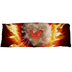 Arts Fire Valentines Day Heart Love Flames Heart Body Pillow Case Dakimakura (two Sides)