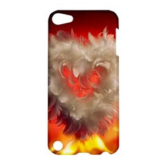 Arts Fire Valentines Day Heart Love Flames Heart Apple iPod Touch 5 Hardshell Case