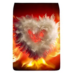 Arts Fire Valentines Day Heart Love Flames Heart Flap Covers (L)