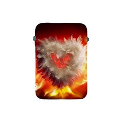 Arts Fire Valentines Day Heart Love Flames Heart Apple iPad Mini Protective Soft Cases