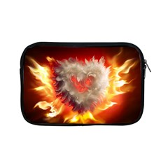 Arts Fire Valentines Day Heart Love Flames Heart Apple iPad Mini Zipper Cases