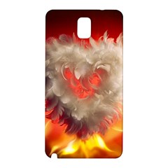 Arts Fire Valentines Day Heart Love Flames Heart Samsung Galaxy Note 3 N9005 Hardshell Back Case