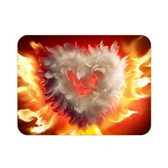 Arts Fire Valentines Day Heart Love Flames Heart Double Sided Flano Blanket (Mini)