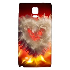 Arts Fire Valentines Day Heart Love Flames Heart Galaxy Note 4 Back Case