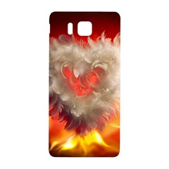 Arts Fire Valentines Day Heart Love Flames Heart Samsung Galaxy Alpha Hardshell Back Case