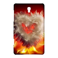 Arts Fire Valentines Day Heart Love Flames Heart Samsung Galaxy Tab S (8.4 ) Hardshell Case