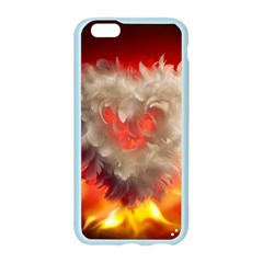 Arts Fire Valentines Day Heart Love Flames Heart Apple Seamless iPhone 6/6S Case (Color)