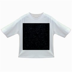 Black Rectangle Wallpaper Grey Infant/Toddler T-Shirts