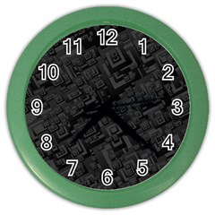 Black Rectangle Wallpaper Grey Color Wall Clocks