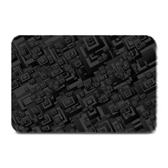 Black Rectangle Wallpaper Grey Plate Mats