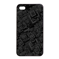 Black Rectangle Wallpaper Grey Apple iPhone 4/4s Seamless Case (Black)