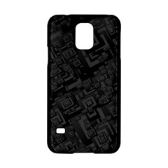 Black Rectangle Wallpaper Grey Samsung Galaxy S5 Hardshell Case