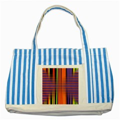 Background Texture Patterncake Happy Birthday Striped Blue Tote Bag