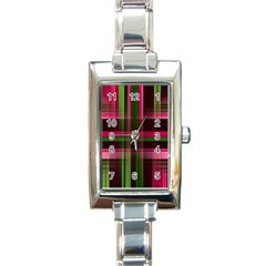 Background Texture Pattern Color Rectangle Italian Charm Watch