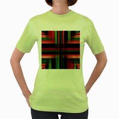 Background Texture Pattern Color Women s Green T-Shirt