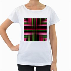 Background Texture Pattern Color Women s Loose-Fit T-Shirt (White)