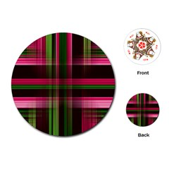 Background Texture Pattern Color Playing Cards (Round)